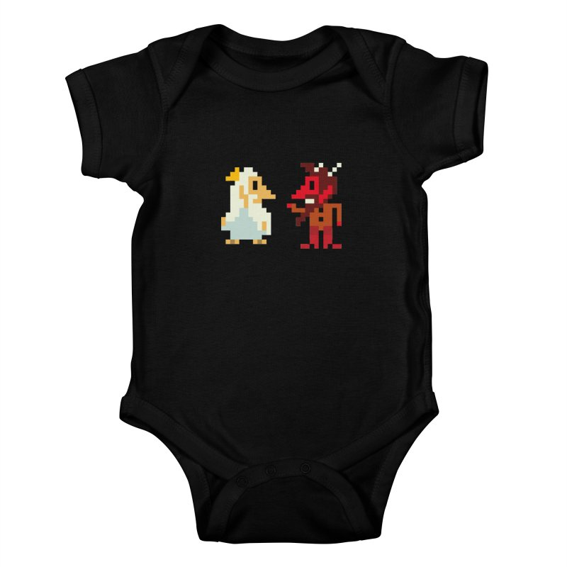 8 BITS Kids Baby Bodysuit by montt's Artist Shop
