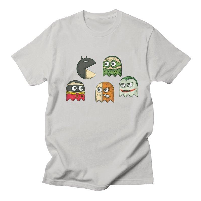 Pacman & Robin in Men's T-Shirt Stone by montt's Artist Shop