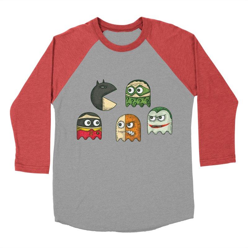 Pacman & Robin Men's Baseball Triblend T-Shirt by montt's Artist Shop