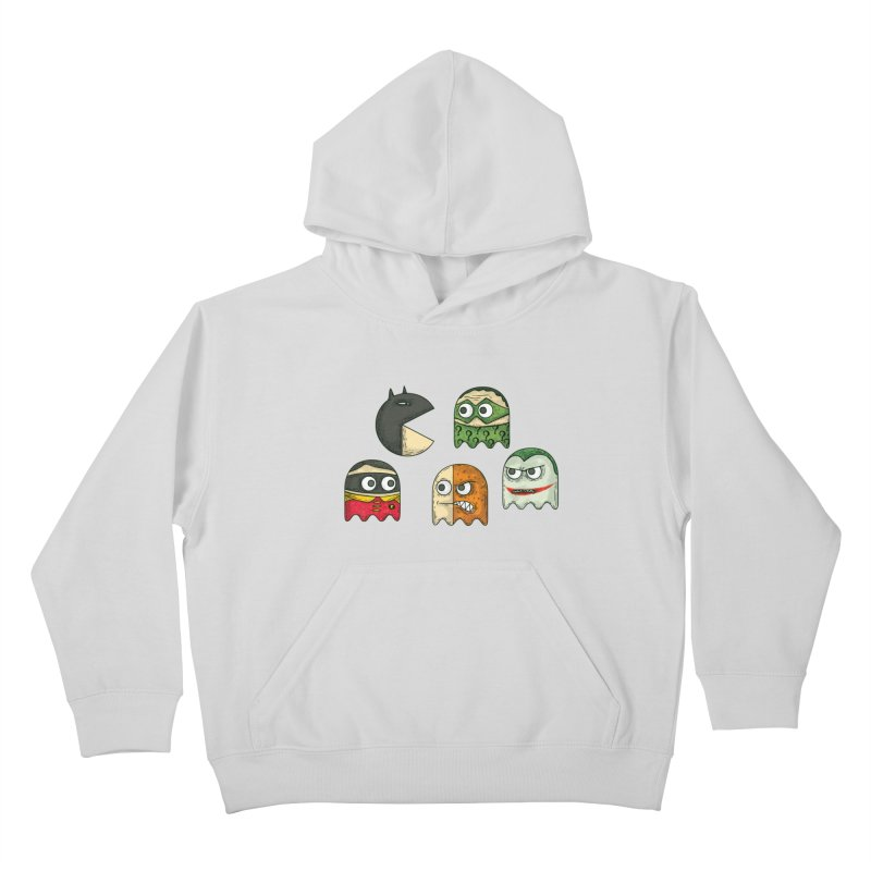 Pacman & Robin Kids Pullover Hoody by montt's Artist Shop