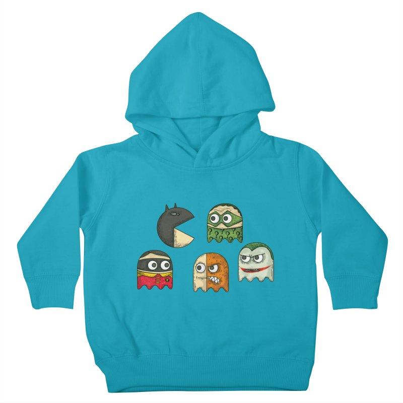 Pacman & Robin Kids Toddler Pullover Hoody by montt's Artist Shop