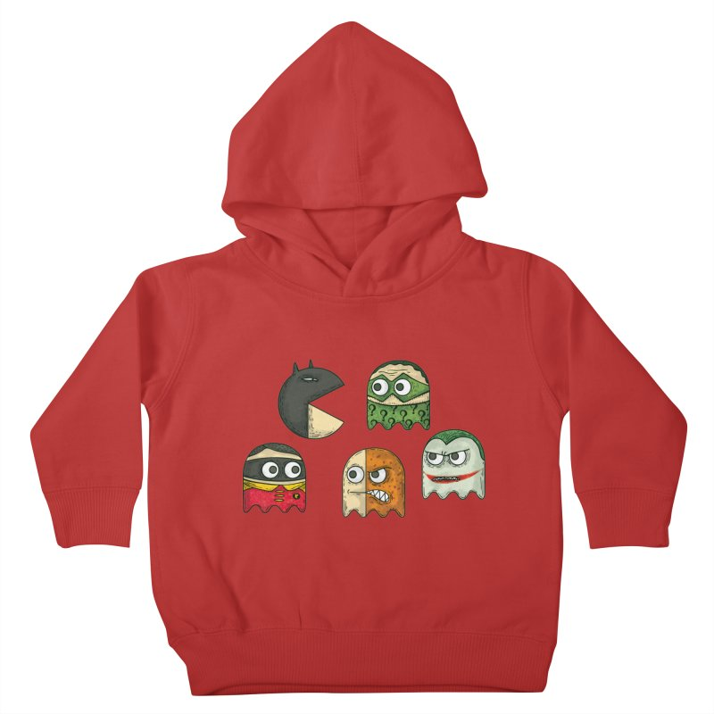 Pacman & Robin Kids Toddler Pullover Hoody by montt's Artist Shop
