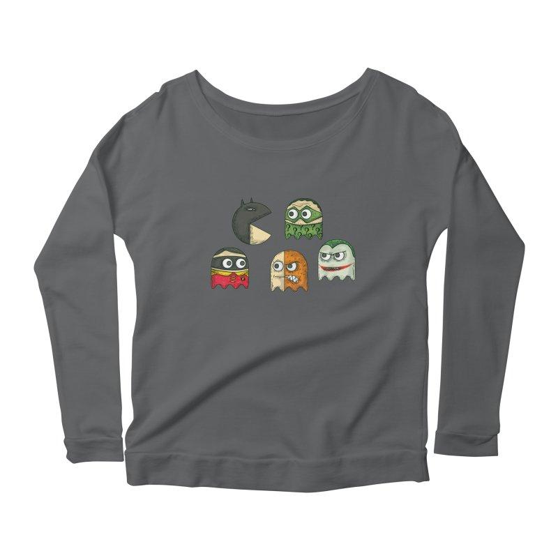 Pacman & Robin Women's Scoop Neck Longsleeve T-Shirt by montt's Artist Shop