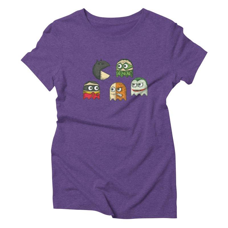 Pacman & Robin Women's Triblend T-shirt by montt's Artist Shop