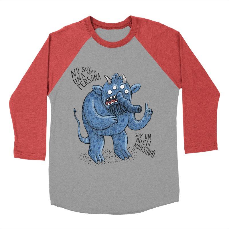 Buen monstruo Women's Baseball Triblend T-Shirt by montt's Artist Shop