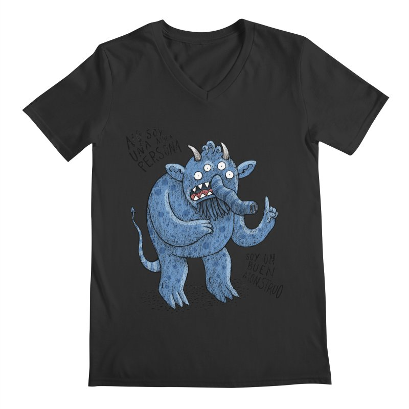 Buen monstruo Men's V-Neck by montt's Artist Shop