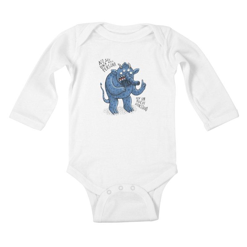 Buen monstruo Kids Baby Longsleeve Bodysuit by montt's Artist Shop
