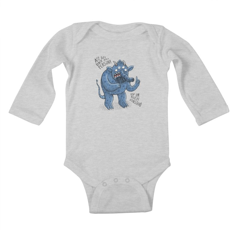 Buen monstruo Kids Baby Longsleeve Bodysuit by montt's Artist Shop