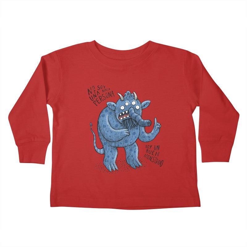 Buen monstruo Kids Toddler Longsleeve T-Shirt by montt's Artist Shop
