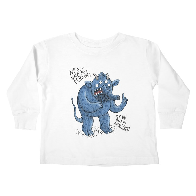 Buen monstruo Kids Toddler Longsleeve T-Shirt by montt's Artist Shop
