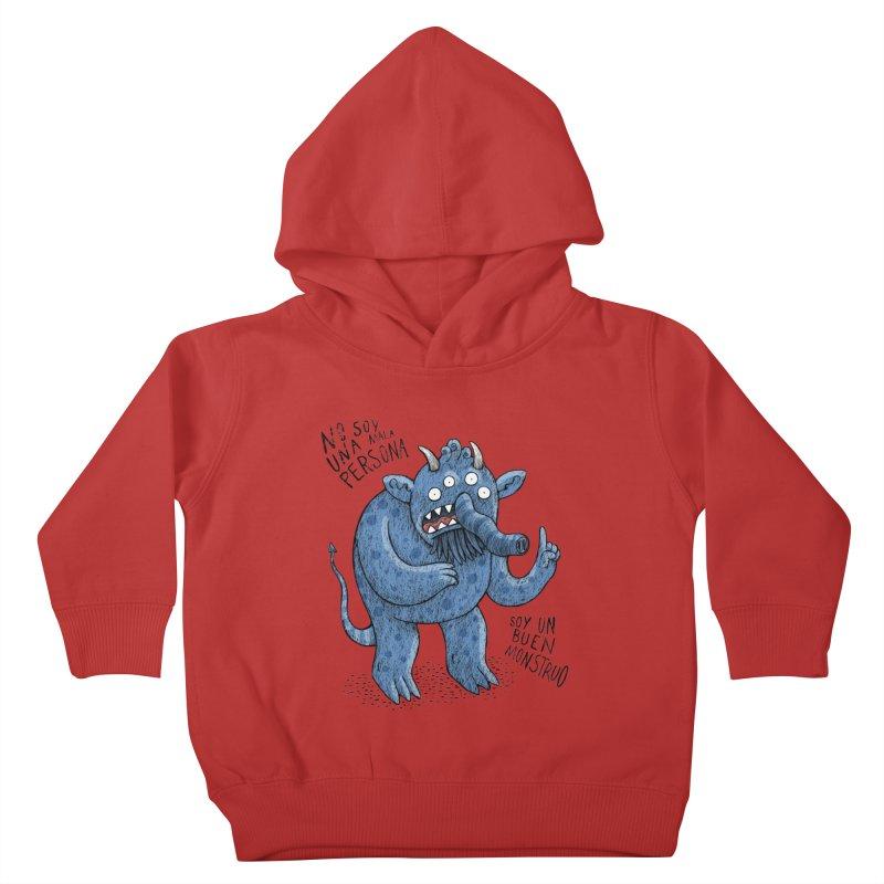 Buen monstruo Kids Toddler Pullover Hoody by montt's Artist Shop