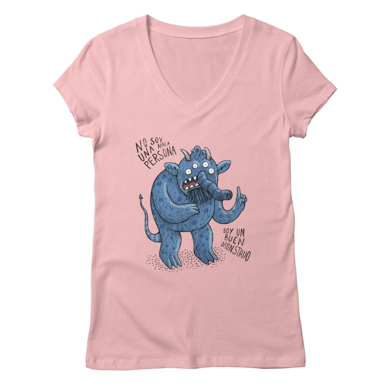 Buen monstruo Women's V-Neck by montt's Artist Shop