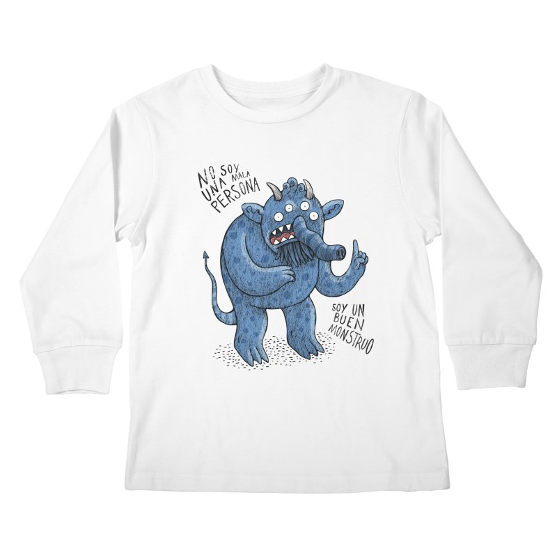 Buen monstruo Kids Longsleeve T-Shirt by montt's Artist Shop