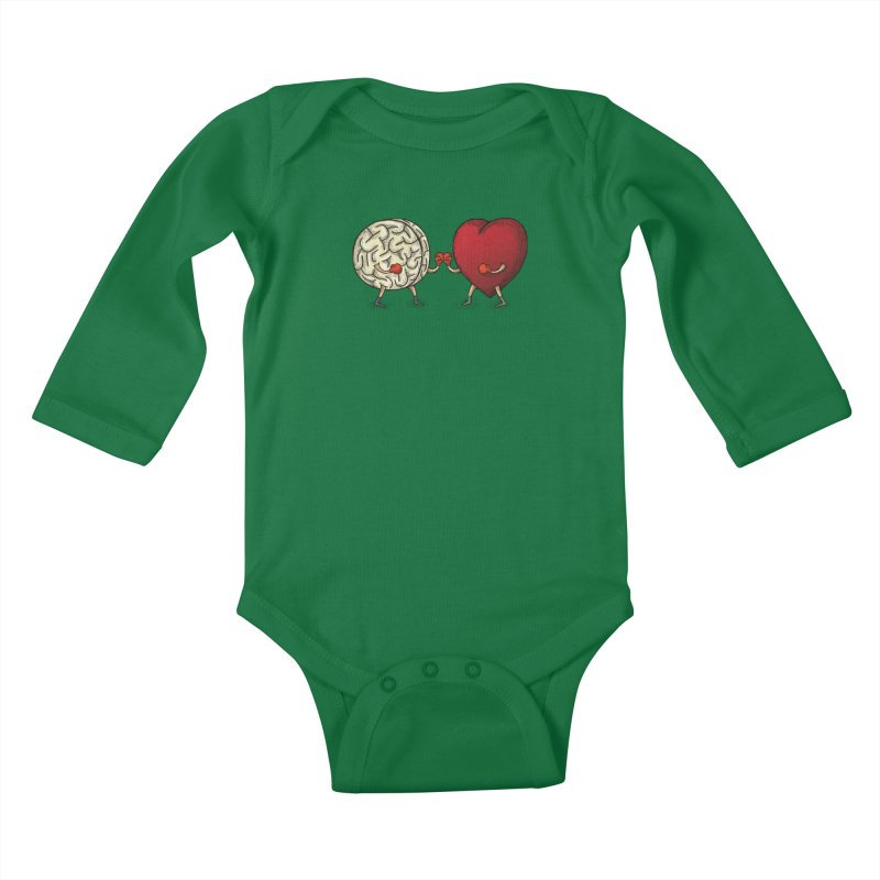 Lucha diaria Kids Baby Longsleeve Bodysuit by montt's Artist Shop