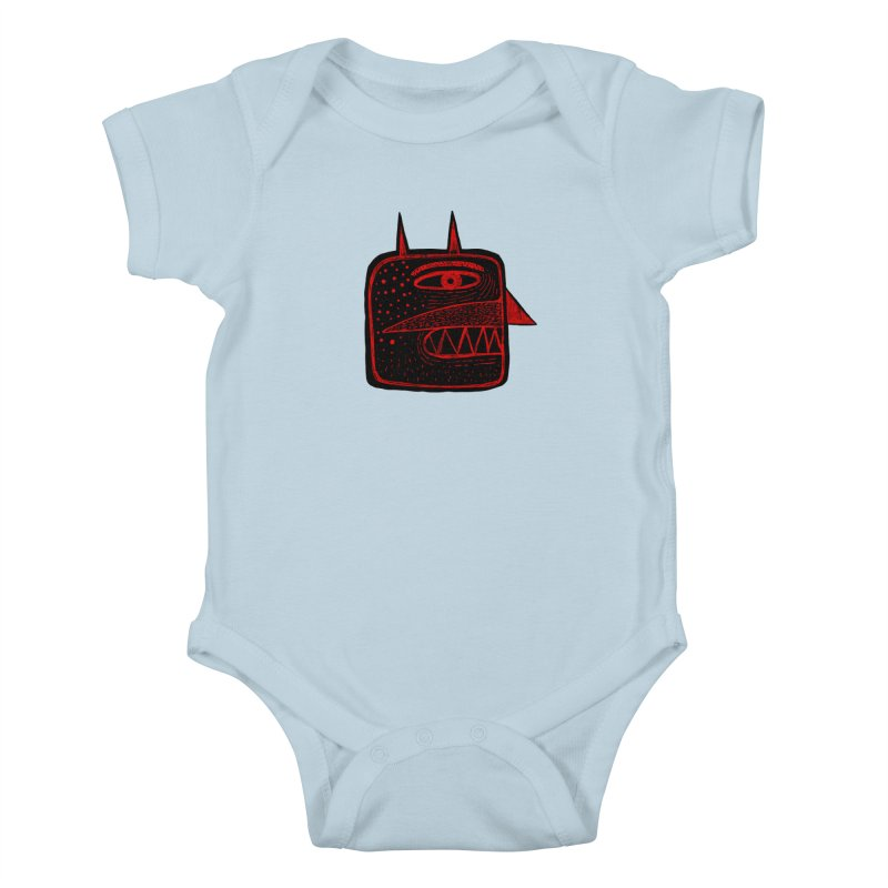 Diábolo 1 Kids Baby Bodysuit by montt's Artist Shop