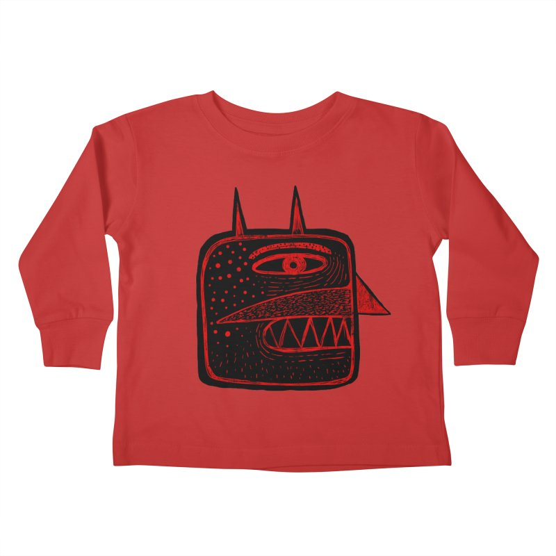 Diábolo 1 Kids Toddler Longsleeve T-Shirt by montt's Artist Shop