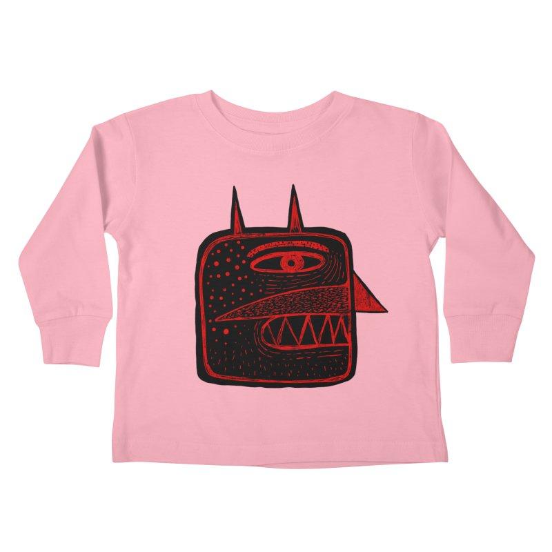 Diábolo 1 Kids Toddler Longsleeve T-Shirt by montt's Artist Shop
