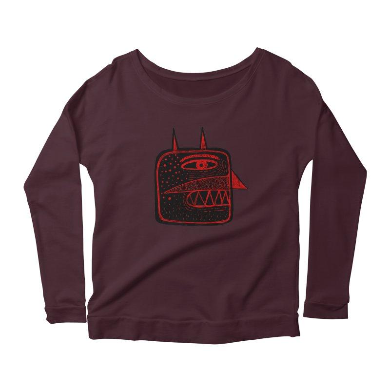 Diábolo 1 Women's Scoop Neck Longsleeve T-Shirt by montt's Artist Shop