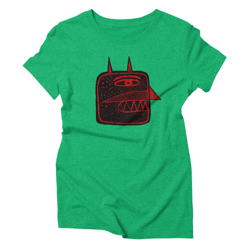 Diábolo 1 Women's Triblend T-Shirt by montt's Artist Shop