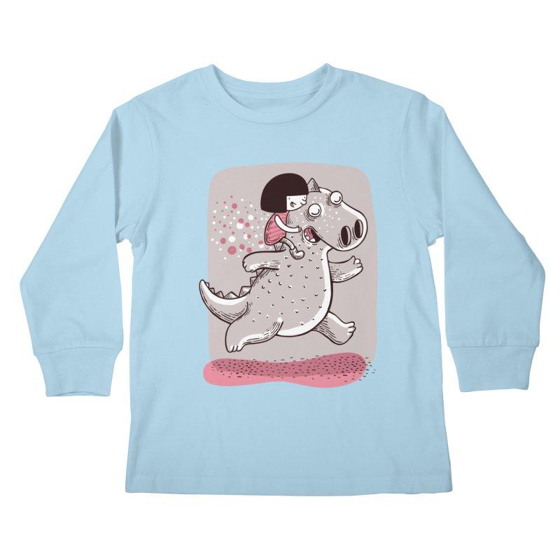 Día libre Kids Longsleeve T-Shirt by montt's Artist Shop