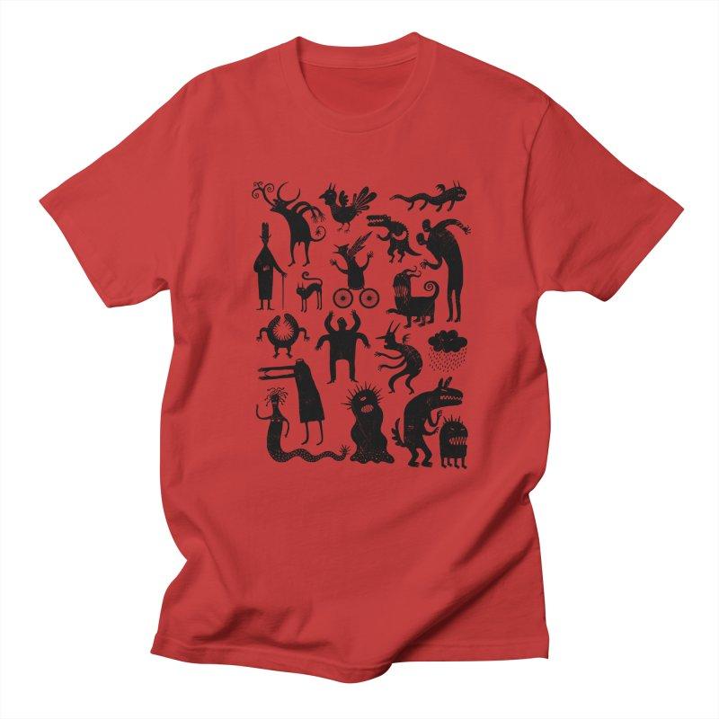 Manual de demonología in Men's T-Shirt Red by montt's Artist Shop