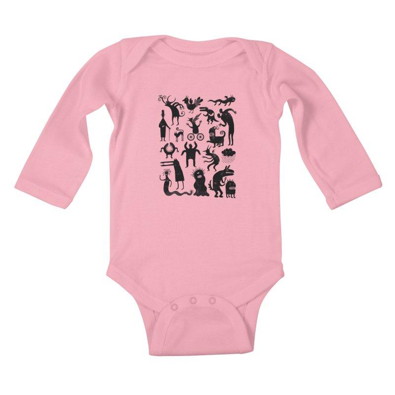 Manual de demonología Kids Baby Longsleeve Bodysuit by montt's Artist Shop