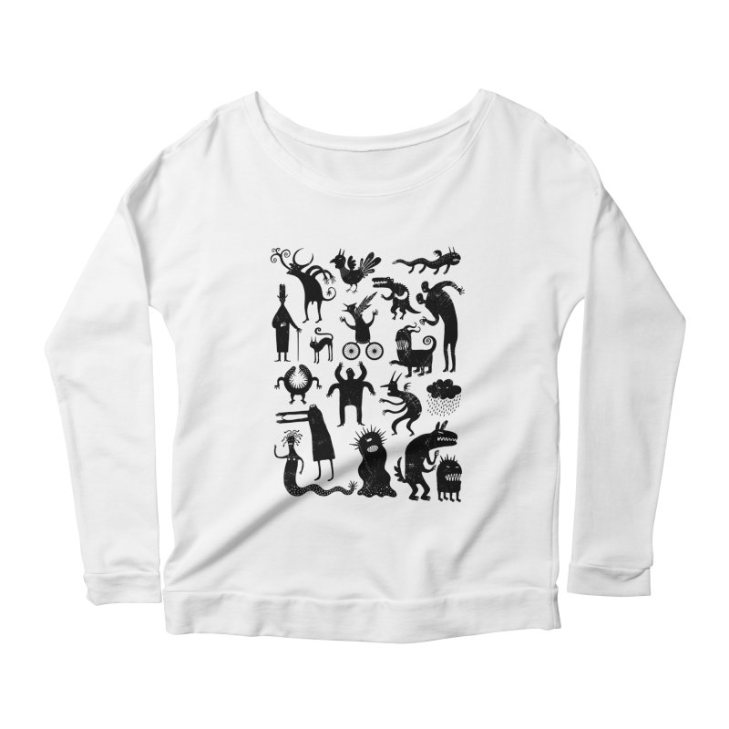 Manual de demonología Women's Scoop Neck Longsleeve T-Shirt by montt's Artist Shop