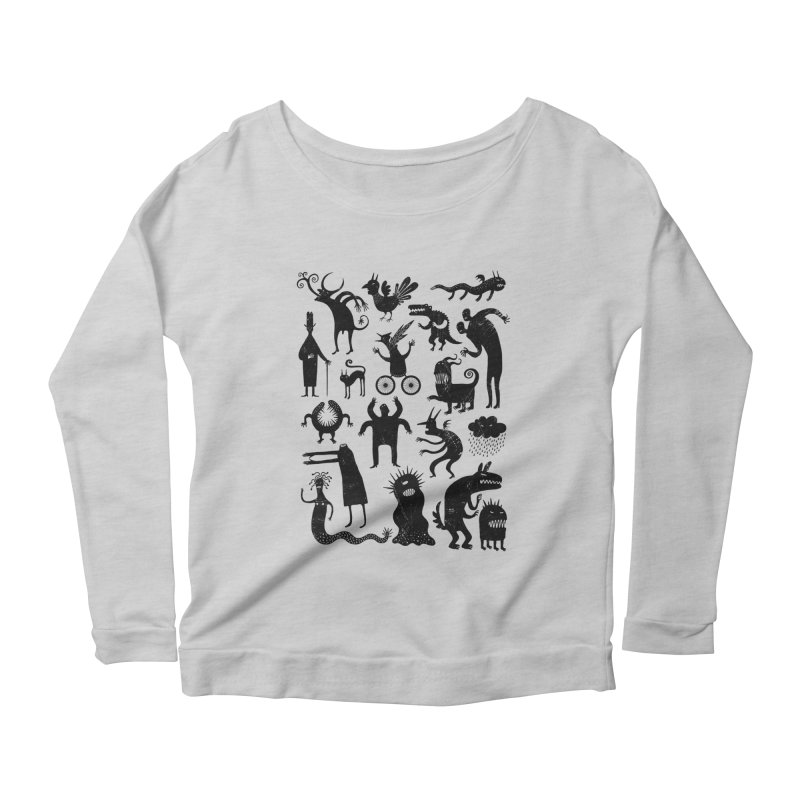 Manual de demonología Women's Longsleeve Scoopneck  by montt's Artist Shop