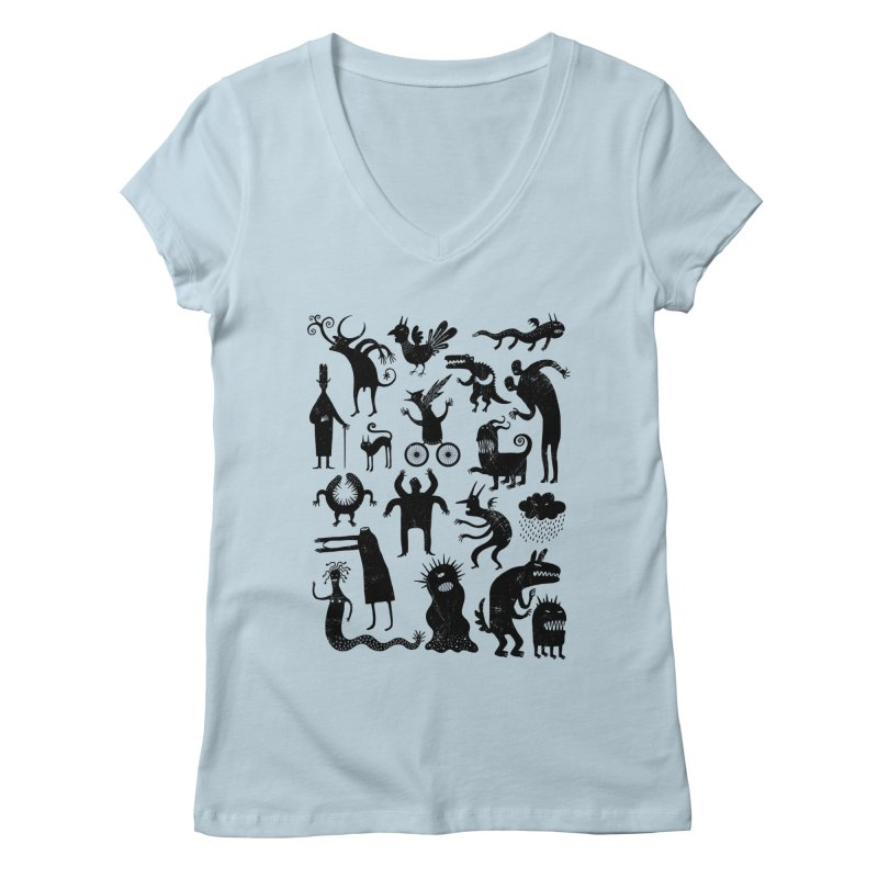Manual de demonología Women's V-Neck by montt's Artist Shop