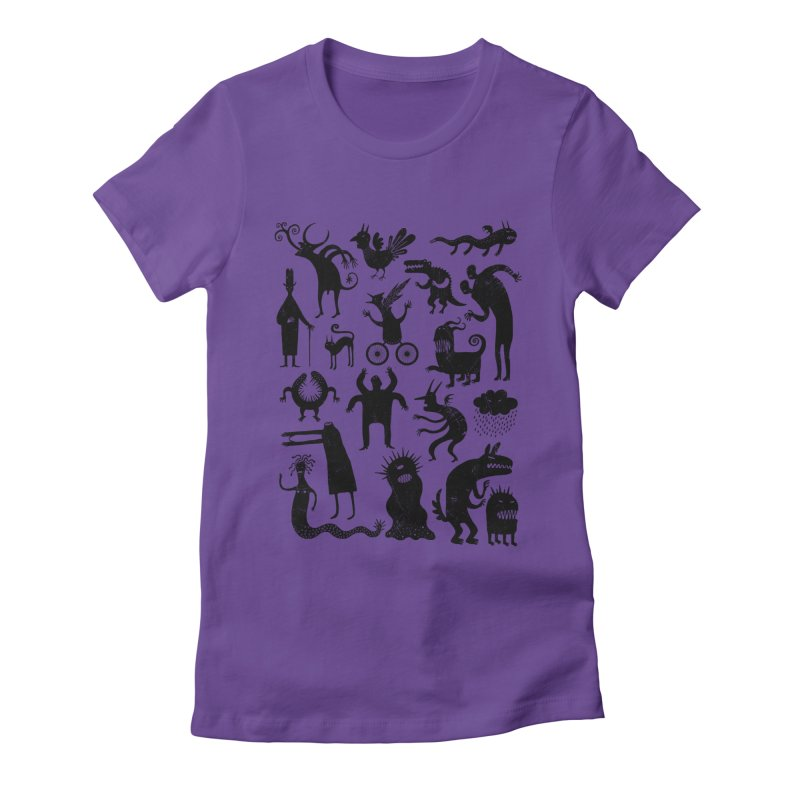 Manual de demonología Women's Fitted T-Shirt by montt's Artist Shop