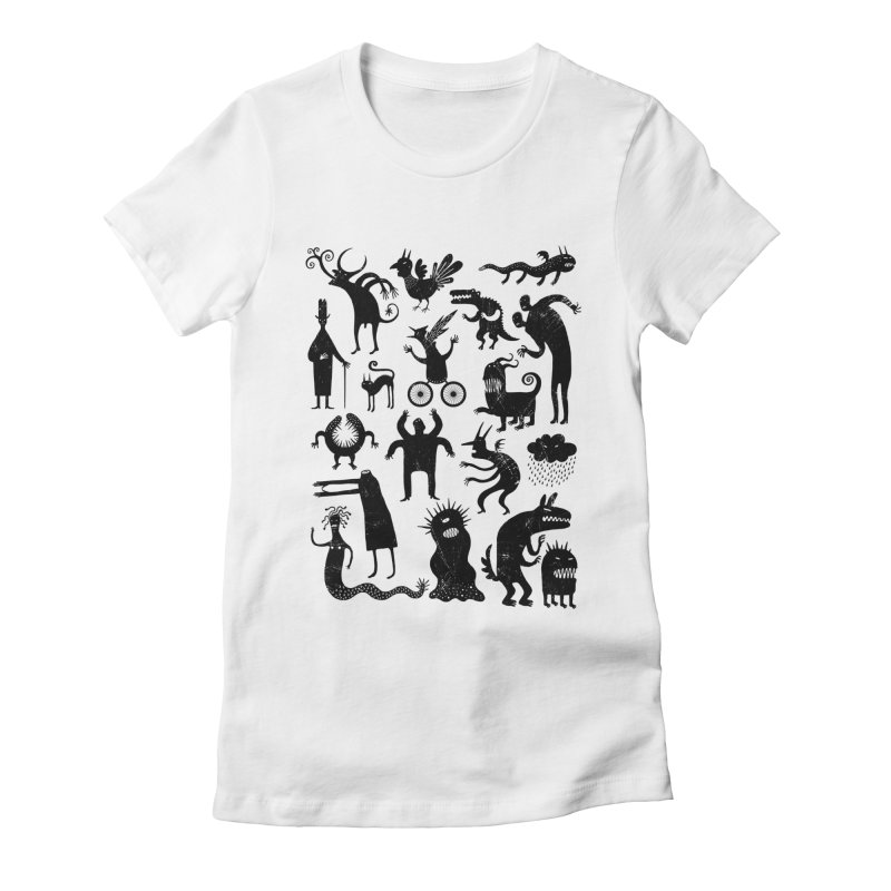 Manual de demonología Women's Fitted T-Shirt by montt's Artist Shop