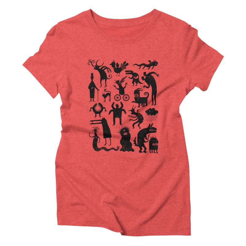 Manual de demonología Women's Triblend T-shirt by montt's Artist Shop