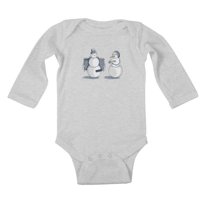 Hombre de fuego Kids Baby Longsleeve Bodysuit by montt's Artist Shop