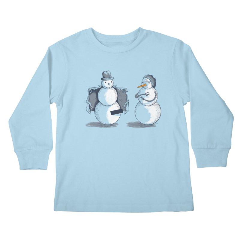 Hombre de fuego Kids Longsleeve T-Shirt by montt's Artist Shop