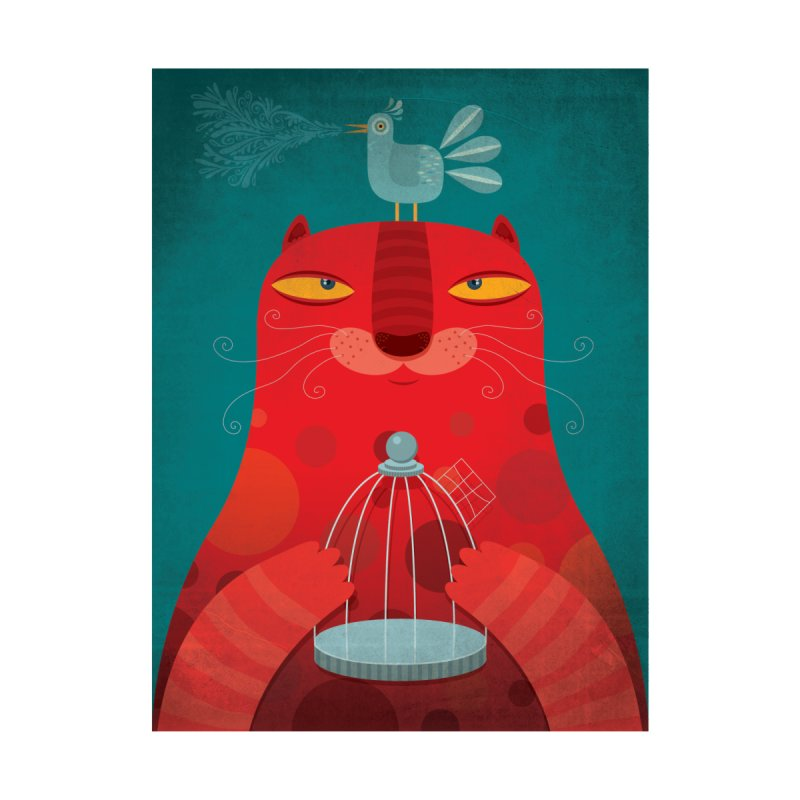 Gato relajado by montt's Artist Shop