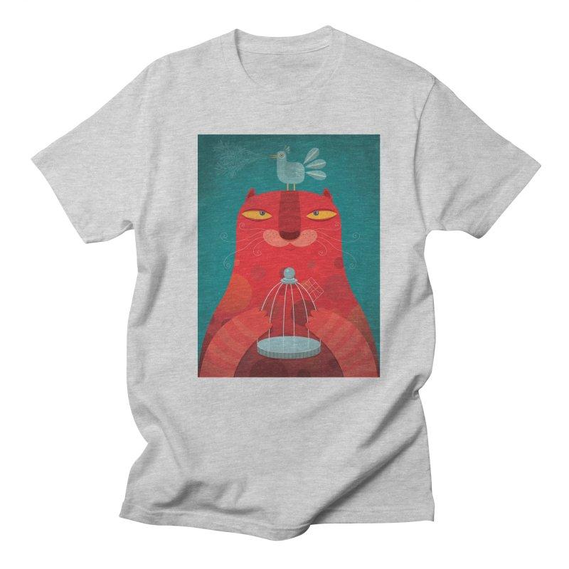 Gato relajado Men's T-Shirt by montt's Artist Shop