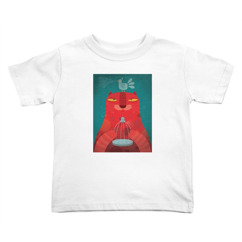 Gato relajado Kids Toddler T-Shirt by montt's Artist Shop