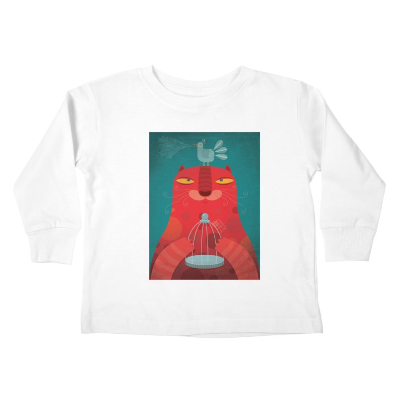 Gato relajado Kids Toddler Longsleeve T-Shirt by montt's Artist Shop