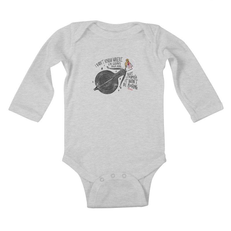 Bowie Kids Baby Longsleeve Bodysuit by montt's Artist Shop