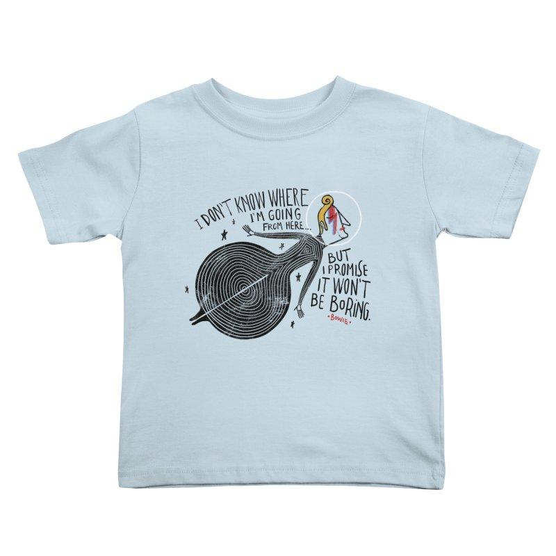 Bowie Kids Toddler T-Shirt by montt's Artist Shop