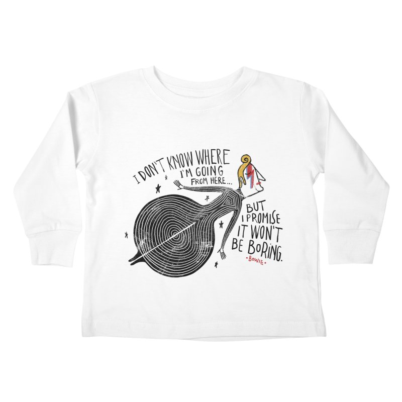 Bowie Kids Toddler Longsleeve T-Shirt by montt's Artist Shop