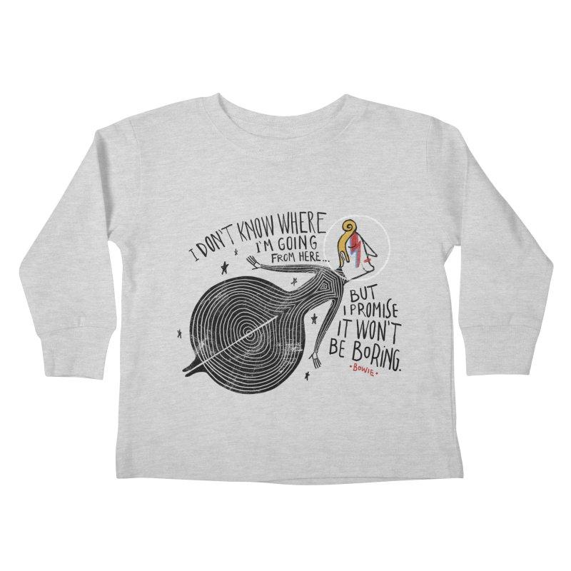 Bowie Kids Toddler Longsleeve T-Shirt by montt's Artist Shop