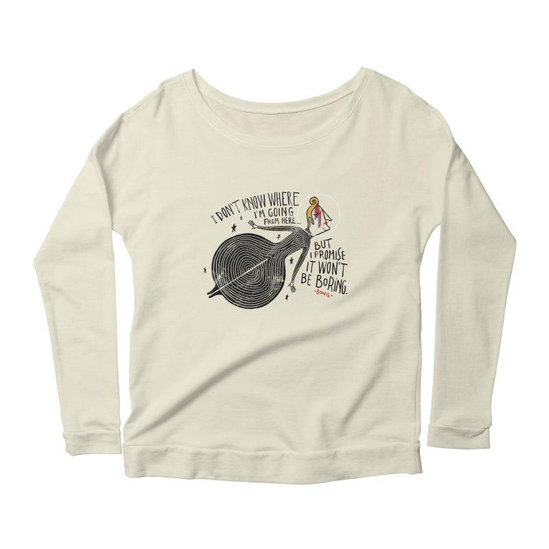 Bowie Women's Scoop Neck Longsleeve T-Shirt by montt's Artist Shop