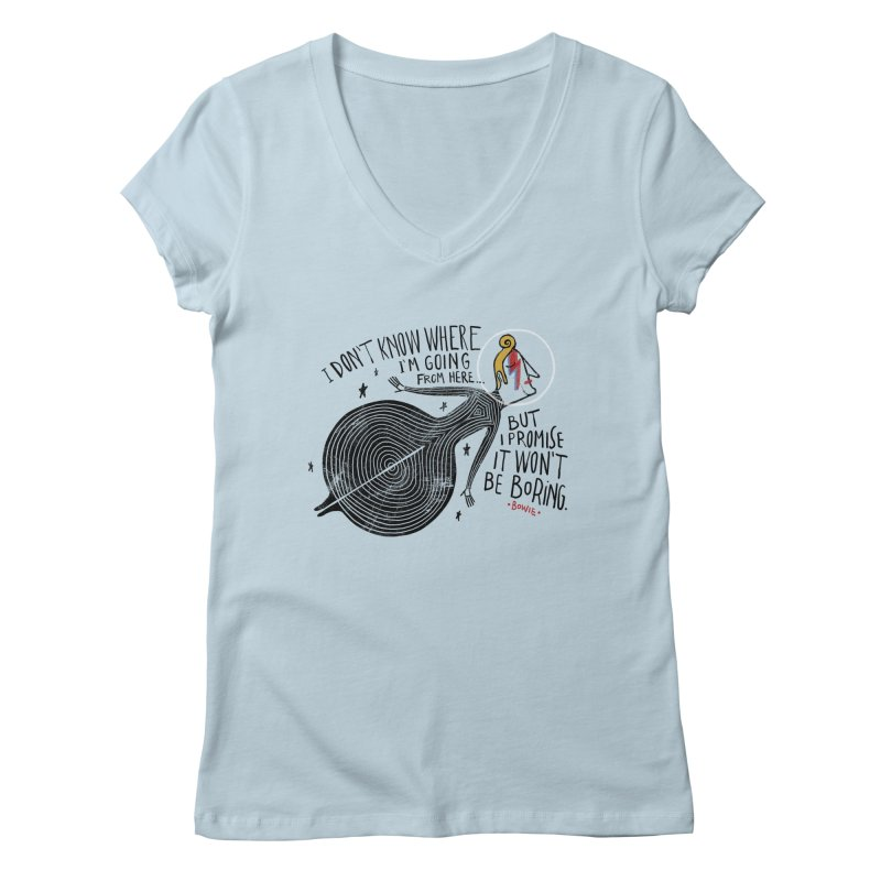 Bowie Women's V-Neck by montt's Artist Shop
