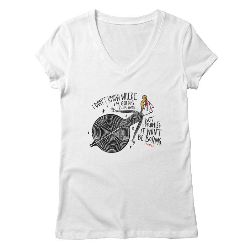 Bowie Women's V-Neck by montt's Artist Shop