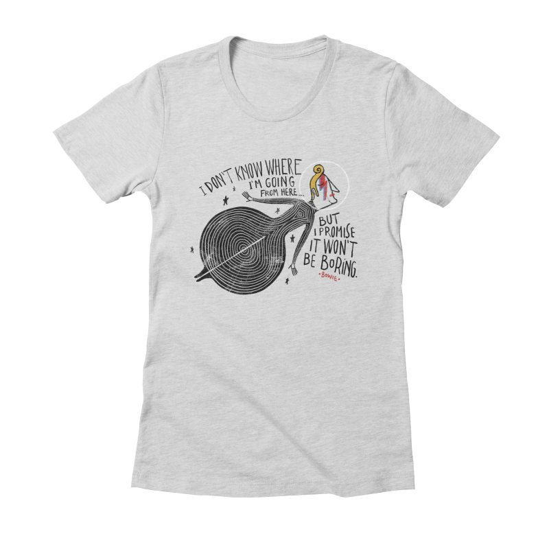 Bowie Women's Fitted T-Shirt by montt's Artist Shop