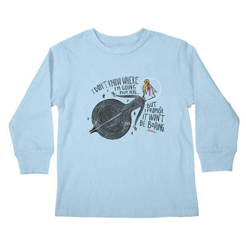 Bowie Kids Longsleeve T-Shirt by montt's Artist Shop