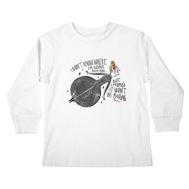 Bowie Kids Longsleeve T-Shirt by montt's Artist Shop