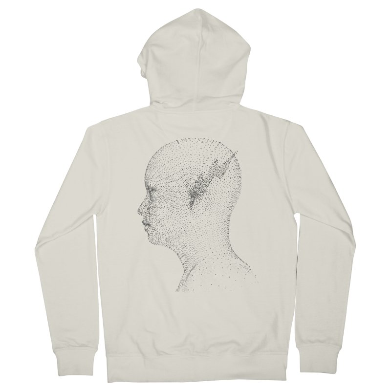 The Messenger BW Men's Zip-Up Hoody by ZWOONT!