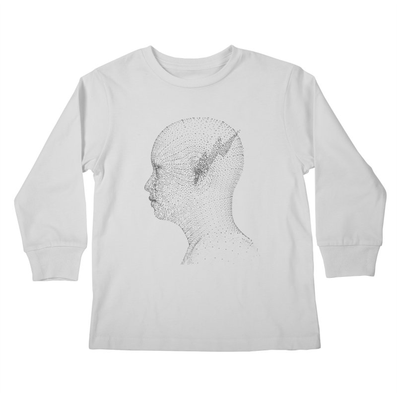 The Messenger BW Kids Longsleeve T-Shirt by ZWOONT!